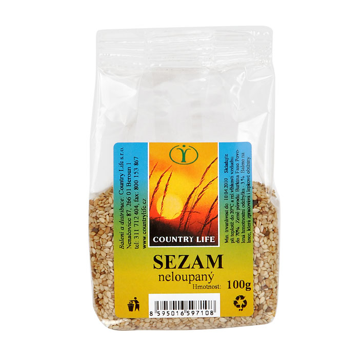 Sezam natural BIO 100g COUNTRY LIFE