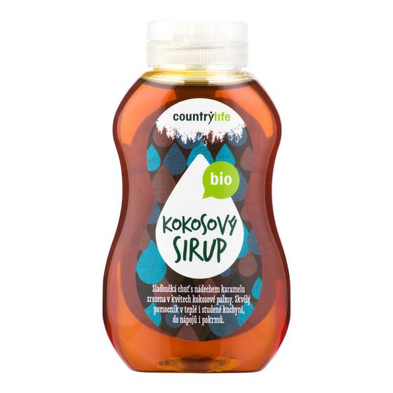 Sirup kokosový BIO 250ml COUNTRY LIFE