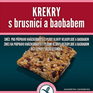 Krekry s brusnicí a baobabem 250g ADVENI MEDICAL