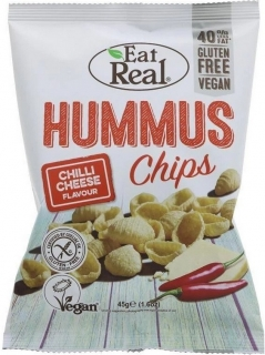 Hummus chips chilli&cheese 45g EAT REAL