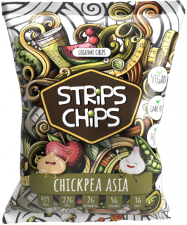 Strips chips CHIICKPEA ASIA 90g YESCHIPS