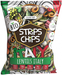 Strips chips LENTILS ITALY 90g YESCHIPS